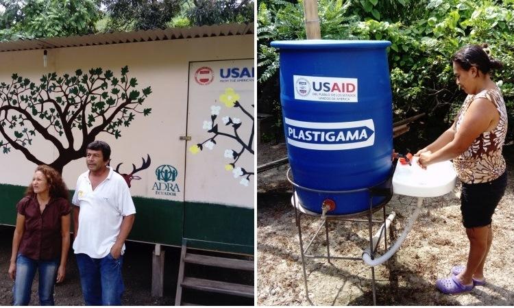 Casa construida en Jama por ADRA y proyecto de agua de USAID