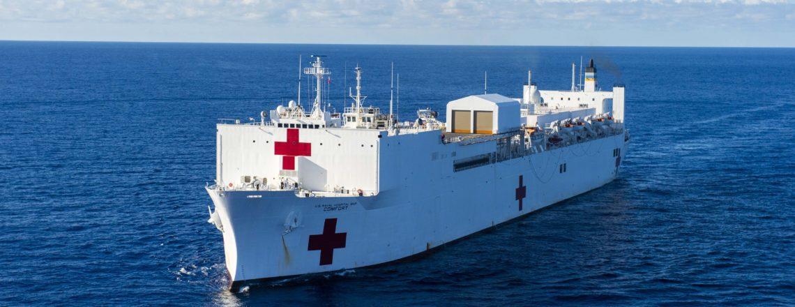 The U.S. Navy Hospital Ship USNS Comfort